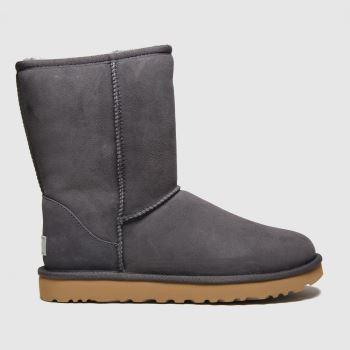 UGG Dark Grey Classic Short Ii Womens Boots#