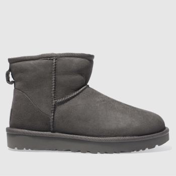 Ugg Grey Classic Mini Ii c2namevalue::Womens Boots