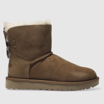 Ugg Blassbraun Mini Bailey Bow Ii Damen Boots