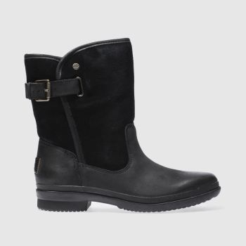 Ugg Girls Ankle Boots Black