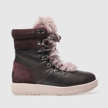 Ugg Burgundy Viki Waterproof Womens Boots