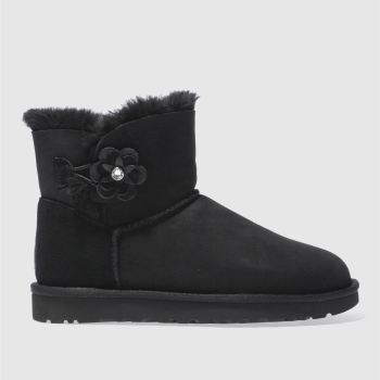 UGG BLACK MINI BAILEY PETAL BOOTS
