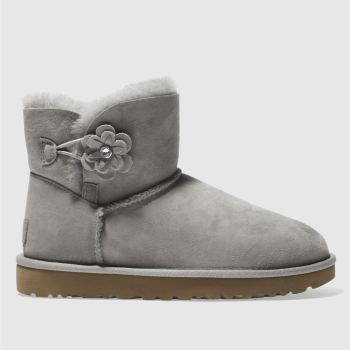 Ugg Grey Mini Bailey Petal Womens Boots