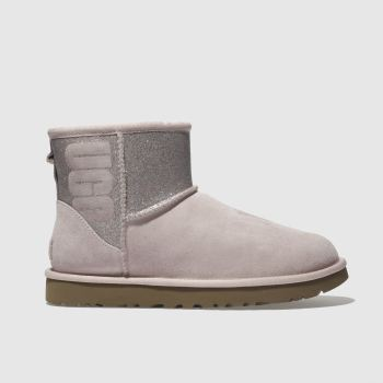 Ugg Pale Pink Classic Mini Sparkle Womens Boots
