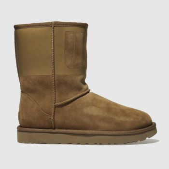 Ugg Tan Classic Short Rubber Womens Boots