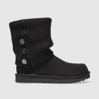 Ugg Black Purl Cardy Knit Womens Boots