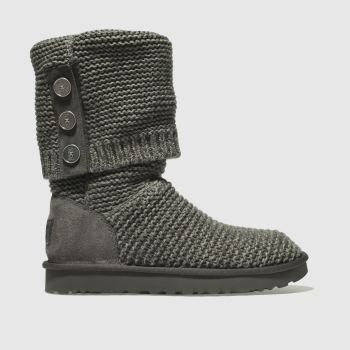 Ugg Grey Purl Cardy Knit Womens Boots