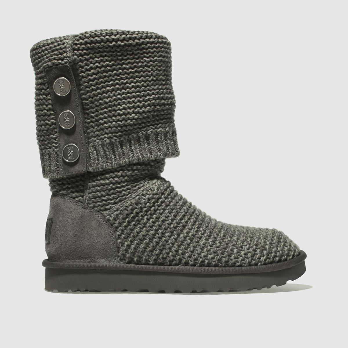 Ugg Grey Purl Cardy Knit Boots