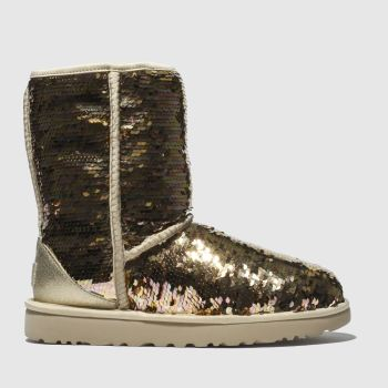 Ugg Gold Classic Short Sequin Womens Boots