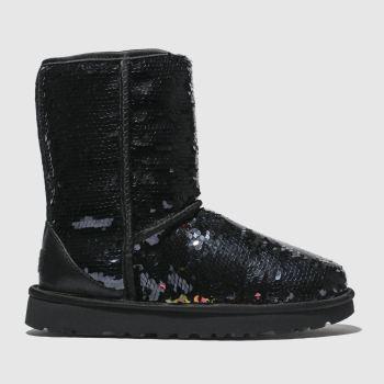 ugg black classic short sequin boots
