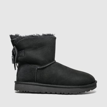 Ugg Black Classic Double Bow Mini Womens Boots
