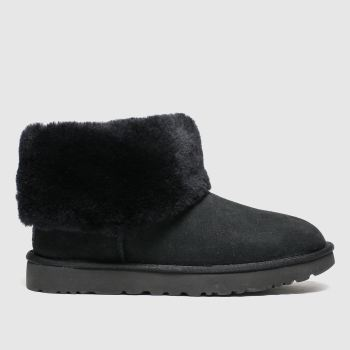 Ugg Schwarz Classic Mini Fluff Damen Boots