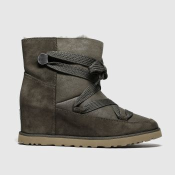 Ugg Brown Classic Femme Lace Up Womens Boots