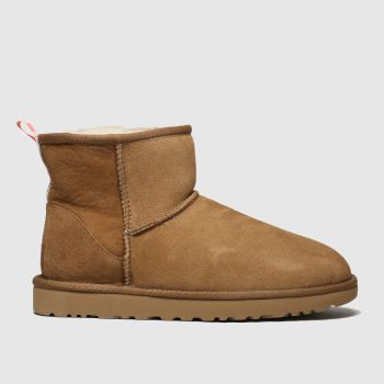 Ugg Tan Classic Mini Graphic Logo Boots