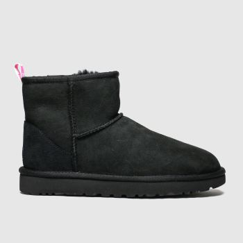 Ugg Schwarz Classic Mini Graphic Logo c2namevalue::Damen Boots
