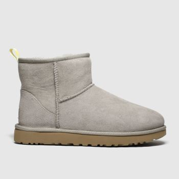 Ugg Grey Classic Mini Graphic Logo Womens Boots