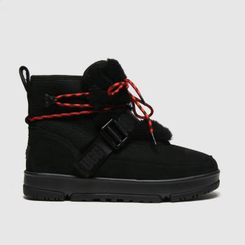 UGG Black Classic Weather Hiker Womens Boots