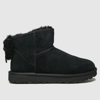 UGG Black Classic Mini Bow Ii Womens Boots#