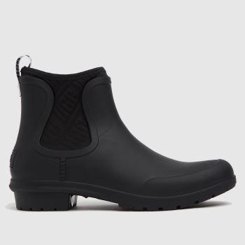 UGG Black Chevonne Chelsea Waterproof Womens Boots