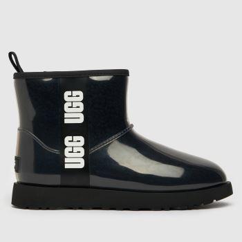 UGG Black Classic Clear Mini Womens Boots