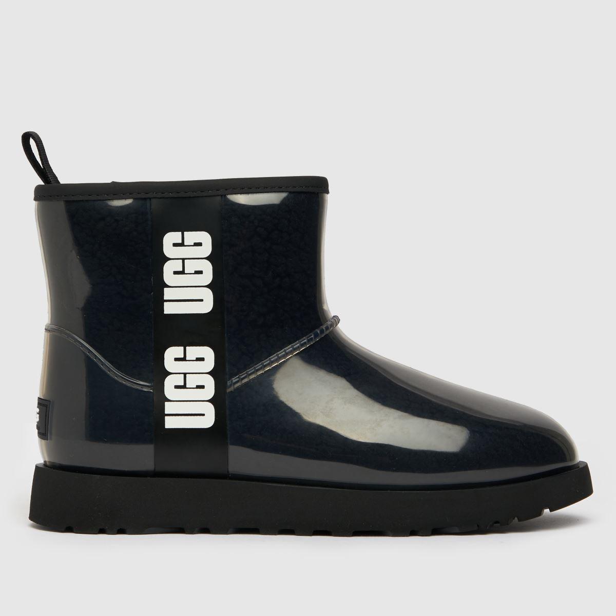 UGG Black Classic Clear Mini Boots