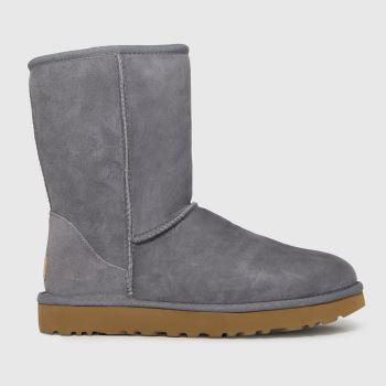 UGG Grey Classic Short Ii Womens Boots