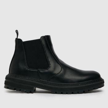 schuh Black Damon Chunky Chelsea Womens Boots