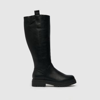 schuh Black Dahlia Pull On Knee Womens Boots
