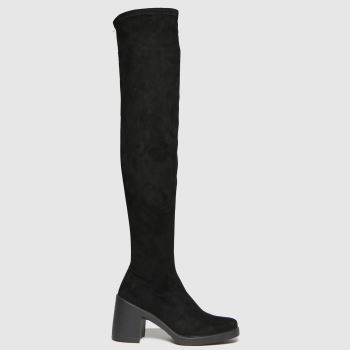 schuh Black Dylan Stretch Over The Knee Womens Boots
