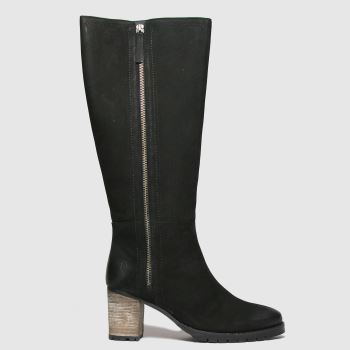 Red Or Dead Black Romeo Nubuck High Leg Womens Boots