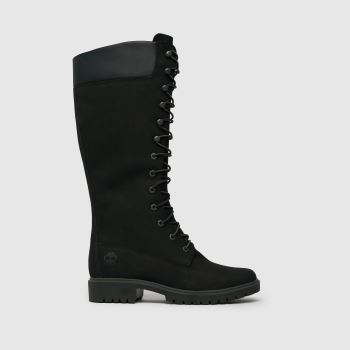 Timberland Black Premium 14 In Wp Womens Boots