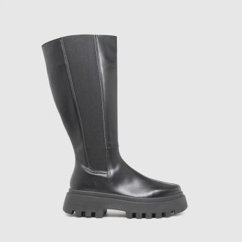 schuh Black Donni Chunky Knee Womens Boots