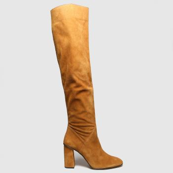 schuh Tan Drake Suede Pull On Womens Boots#
