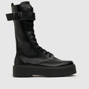 schuh Black Darcy Hiker Calf Boot Womens Boots