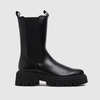 schuh Black Daphne Leather Calf Boots