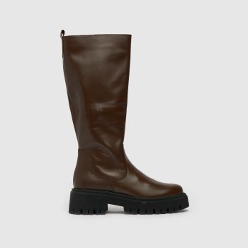 schuh Brown The Edit Paxton Knee Womens Boots