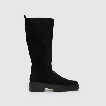 schuh Black Denise Suede Calf Womens Boots