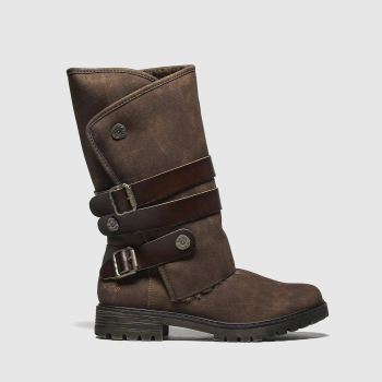 Blowfish Malibu Brown Rider Shearling Womens Boots