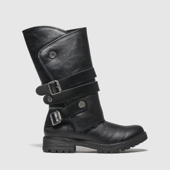 Blowfish Malibu Black Rider Shearling Womens Boots