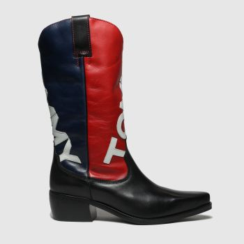 Tommy Hilfiger Navy Heritage Cowboy Womens Boots