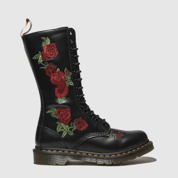 Dr Martens Black & Red 1914 Vegan Vonda Womens Boots