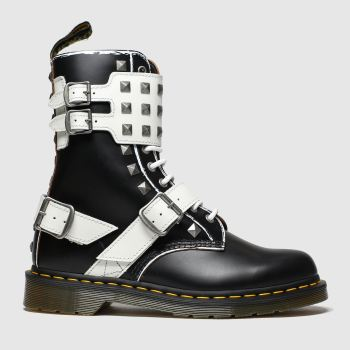 Dr Martens Black & White 1490 Joska Stud c2namevalue::Womens Boots