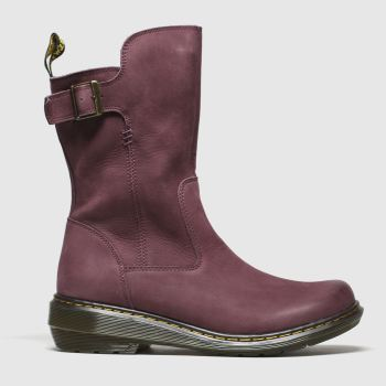 Dr Martens Burgundy Vaux Mid Womens Boots