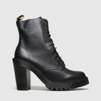 Dr Martens Black Kendra 10 Eye Boot c2namevalue::Womens Boots