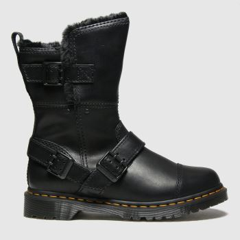 Dr Martens Black Kristy Mid Fur Lined Womens Boots