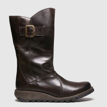 Fly London Dark Brown Mes 3 Womens Boots