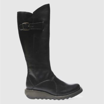 Fly London Black Mol 2 Womens Boots
