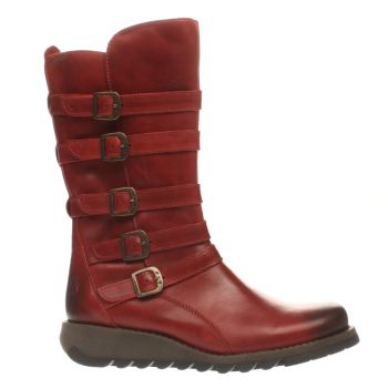 FLY LONDON RED SECA BOOTS