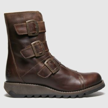 Fly London Dark Brown Scop Boots