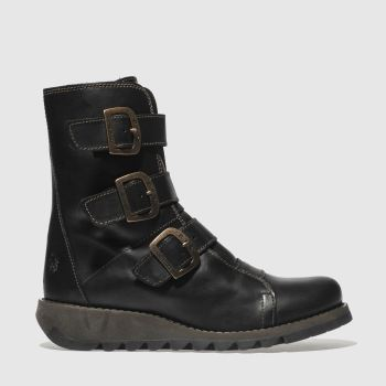 Fly London Black Scop Womens Boots